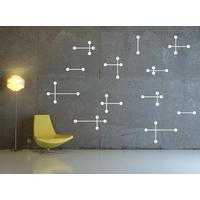 White Atomic Wall Sticker