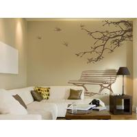 Large Orange/Light Brown In the Park Wall Stickers