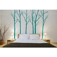 Winter Trees Emerald Wall Stickers