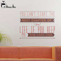 'You Can't Start The Next Chapter' Wall Sticker