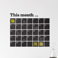 Calender Wall Sticker