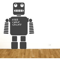 Robot Chalkboard Sticker - Spin Wall Stickers