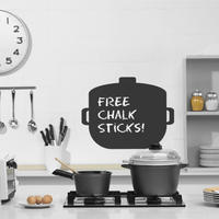 Cooking Pot Chalkboard Sticker - Spin Wall Stickers