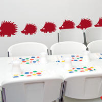 Hedgehog Set - Spin Wall Stickers