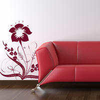 Baroque Flower 3 - Spin Wall Stickers