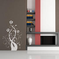 Baroque Flower 4 - Spin Wall Stickers