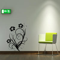 Baroque Flower 5 - Spin Wall Stickers