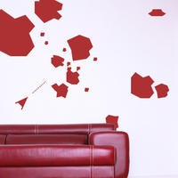 Asteroid Set - Spin Wall Stickers