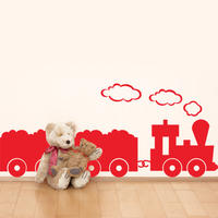 Trains Set - Spin Wall Stickers