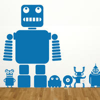 Robots and Aliens - Spin Wall Stickers