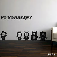 Yo Yo Rocket's Set 1 - Spin Wall Stickers