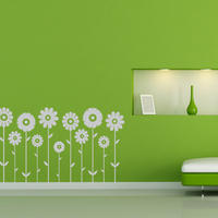 Symmetrical Flowers Set - Spin Wall Stickers