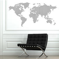 World Map Wall Sticker - Spin Wall Stickers