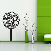 Swirly Tree Wall Sticker - Spin Wall Stickers