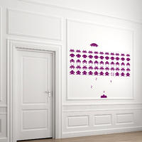 Space Invaders - Spin Wall Stickers
