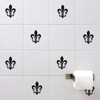 Fleur De Lis Tile Stickers - Spin Wall Stickers
