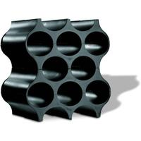Black Koziol Stackable Wine Rack