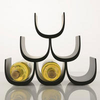Alessi Noe Wine Bottle Holder - Black