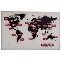 Nextime World Time Digit Clock by Red Candy