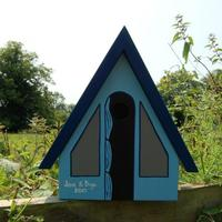 Handmade Tent Bird Box by Lindleywood