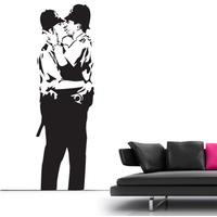 Banksy Kissing Cops Wall Sticker