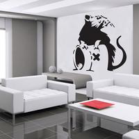Banksy Rat A Wall Sticker by Red Candy