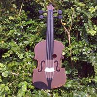 Handmade Violin Bird Box by Lindleywood