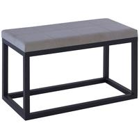 Cordoba Large Framed Stool - Black Wenge with Cream Fabric