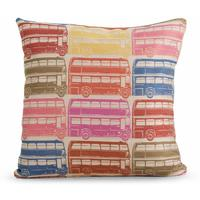 Decker Large Square Cushion 50 x 50cm, Bus Print