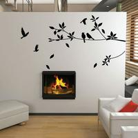 Stylish Tree And Bird Wall Sticker