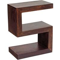 Dakota Mango S Shape Display Unit Rustic Hardwood
