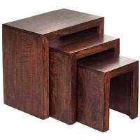 Dakota Mango Nest of 3 Tables Hardwood