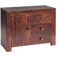 Dakota Mango Sideboard 3 Drawers 1 Door by Verty furniture