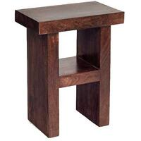 Dakota Mango Hardwood Corner Table H Shape Walnut Colour