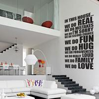 In This House XL Wall Sticker by Red Candy