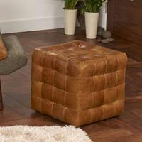 Patchwork Cube Footstool - BL by The Orchard
