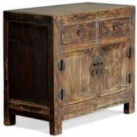 Chinese Elm End Cabinet by Shimu