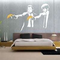 Banksy Pulp Fiction Wall Sticker by Red Candy