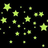 Glow in the Dark Star Mix Wall Stickers