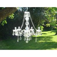 Clear Crystal Chandelier Light by Out There Interiors