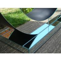 Art Deco Circle Mirrored Console by Out There Interiors