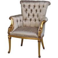 Gold Chair With Button Upholstery by Out There Interiors
