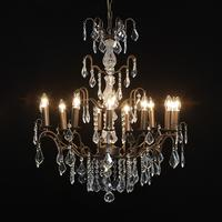 Twelve Arm Chandelier Bronze