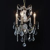 Three Arm Bronze French Chandelier