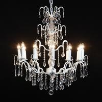 Extra Large White French Chandelier