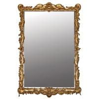 Large Scroll Edge Mirror in Gold