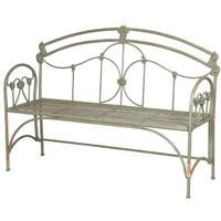 Pea-Green Regal Garden Bench Iron