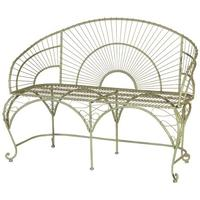 Olive Green Wire Bench