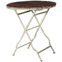 Garden Table Distressed Iron