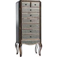 Antique Venetian Mirrored Tallboy Chest of Drawers